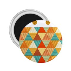Golden dots and triangles pattern 2.25  Magnets