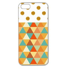 Golden dots and triangles pattern Apple Seamless iPhone 5 Case (Clear)