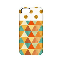 Golden dots and triangles pattern Apple iPhone 5 Classic Hardshell Case (PC+Silicone)