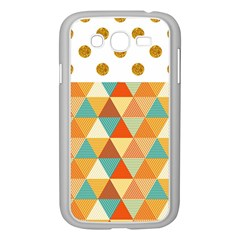 Golden dots and triangles pattern Samsung Galaxy Grand DUOS I9082 Case (White)