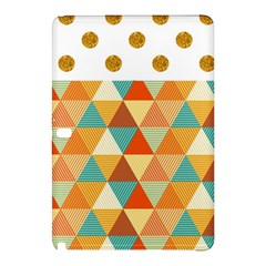 Golden dots and triangles pattern Samsung Galaxy Tab Pro 10.1 Hardshell Case