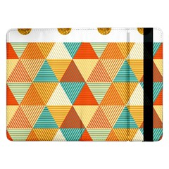 Golden dots and triangles pattern Samsung Galaxy Tab Pro 12.2  Flip Case