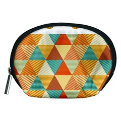 Golden dots and triangles pattern Accessory Pouches (Medium)