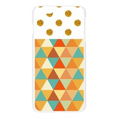 Golden dots and triangles pattern Apple Seamless iPhone 6 Plus/6S Plus Case (Transparent)