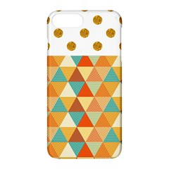Golden Dots And Triangles Pattern Apple Iphone 7 Plus Hardshell Case