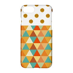 Golden Dots And Triangles Pattern Apple Iphone 7 Hardshell Case