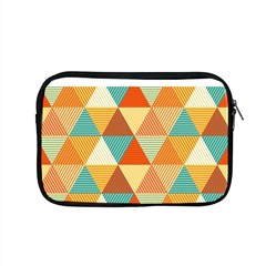 Golden Dots And Triangles Pattern Apple Macbook Pro 15  Zipper Case