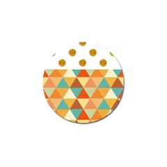 GOLDEN DOTS AND TRIANGLES PATERN Golf Ball Marker