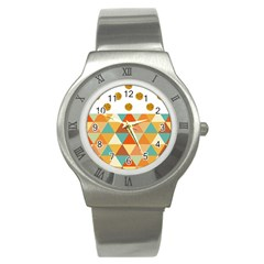 GOLDEN DOTS AND TRIANGLES PATERN Stainless Steel Watch