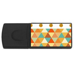GOLDEN DOTS AND TRIANGLES PATERN USB Flash Drive Rectangular (4 GB)