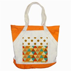 GOLDEN DOTS AND TRIANGLES PATERN Accent Tote Bag