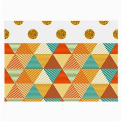GOLDEN DOTS AND TRIANGLES PATERN Large Glasses Cloth