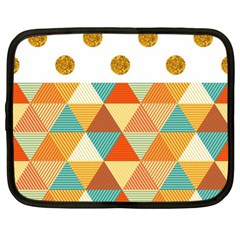 GOLDEN DOTS AND TRIANGLES PATERN Netbook Case (XL)