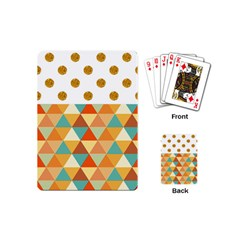 GOLDEN DOTS AND TRIANGLES PATERN Playing Cards (Mini)