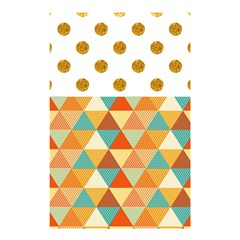 GOLDEN DOTS AND TRIANGLES PATERN Shower Curtain 48  x 72  (Small)