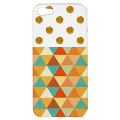 GOLDEN DOTS AND TRIANGLES PATERN Apple iPhone 5 Hardshell Case