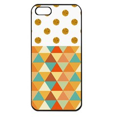 GOLDEN DOTS AND TRIANGLES PATERN Apple iPhone 5 Seamless Case (Black)