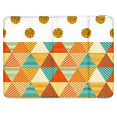 GOLDEN DOTS AND TRIANGLES PATERN Samsung Galaxy Tab 7  P1000 Flip Case