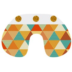 GOLDEN DOTS AND TRIANGLES PATERN Travel Neck Pillows