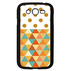 GOLDEN DOTS AND TRIANGLES PATERN Samsung Galaxy Grand DUOS I9082 Case (Black)