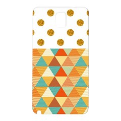 GOLDEN DOTS AND TRIANGLES PATERN Samsung Galaxy Note 3 N9005 Hardshell Back Case