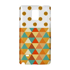GOLDEN DOTS AND TRIANGLES PATERN Samsung Galaxy Note 4 Hardshell Case
