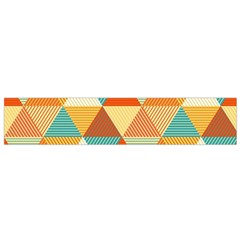GOLDEN DOTS AND TRIANGLES PATERN Flano Scarf (Small)