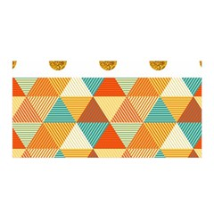 GOLDEN DOTS AND TRIANGLES PATERN Satin Wrap