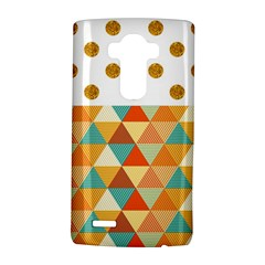 GOLDEN DOTS AND TRIANGLES PATERN LG G4 Hardshell Case
