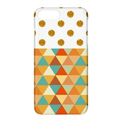 Golden Dots And Triangles Patern Apple Iphone 7 Plus Hardshell Case