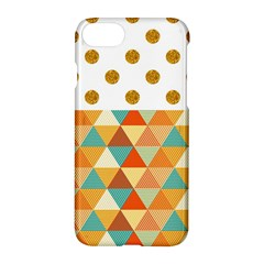 Golden Dots And Triangles Patern Apple Iphone 7 Hardshell Case