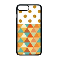 Golden Dots And Triangles Patern Apple Iphone 7 Plus Seamless Case (black)