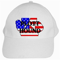 Plott Name Usa Flag Paw White Cap