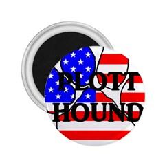 Plott Name Usa Flag Paw 2.25  Magnets