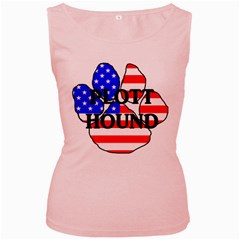 Plott Name Usa Flag Paw Women s Pink Tank Top