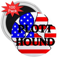 Plott Name Usa Flag Paw 3  Magnets (100 pack)