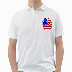 Plott Name Usa Flag Paw Golf Shirts