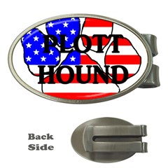 Plott Name Usa Flag Paw Money Clips (Oval)