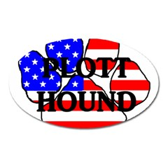 Plott Name Usa Flag Paw Oval Magnet