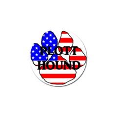 Plott Name Usa Flag Paw Golf Ball Marker (4 pack)