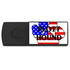 Plott Name Usa Flag Paw USB Flash Drive Rectangular (2 GB)