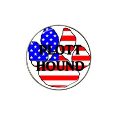Plott Name Usa Flag Paw Hat Clip Ball Marker (4 pack)