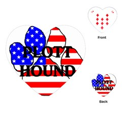 Plott Name Usa Flag Paw Playing Cards (Heart)
