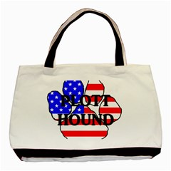 Plott Name Usa Flag Paw Basic Tote Bag