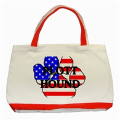 Plott Name Usa Flag Paw Classic Tote Bag (Red)