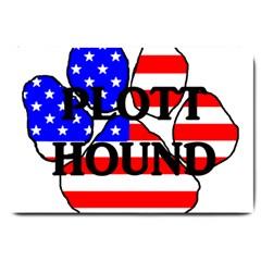 Plott Name Usa Flag Paw Large Doormat