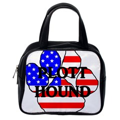 Plott Name Usa Flag Paw Classic Handbags (One Side)