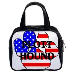 Plott Name Usa Flag Paw Classic Handbags (2 Sides)