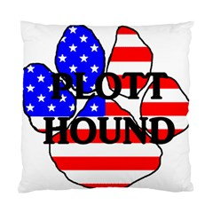 Plott Name Usa Flag Paw Standard Cushion Case (Two Sides)