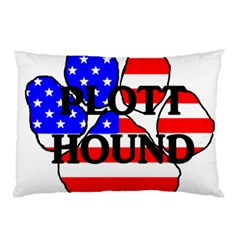 Plott Name Usa Flag Paw Pillow Case